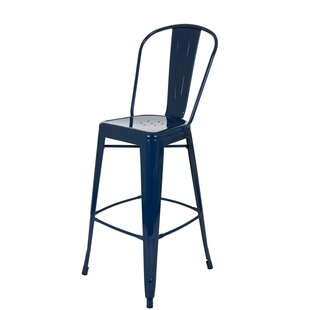 Save Blue Leather Bar Stools P94