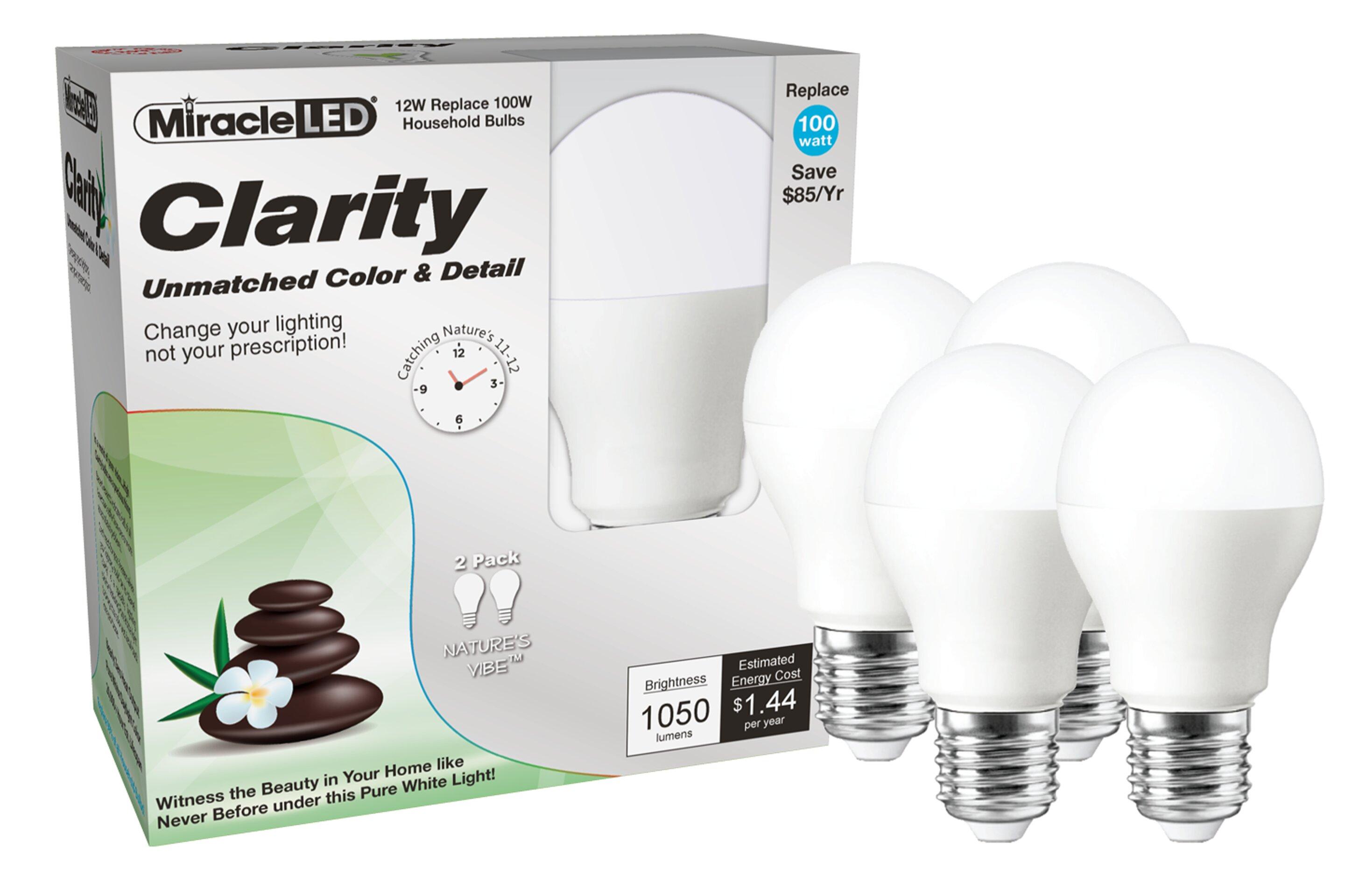Miracle Led 100 Watt Equivalent E26 Medium Standard Led Light Bulb Wayfair
