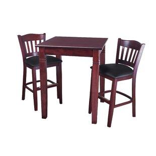 Earls 3 Piece Pub Table Set DarHome Co
