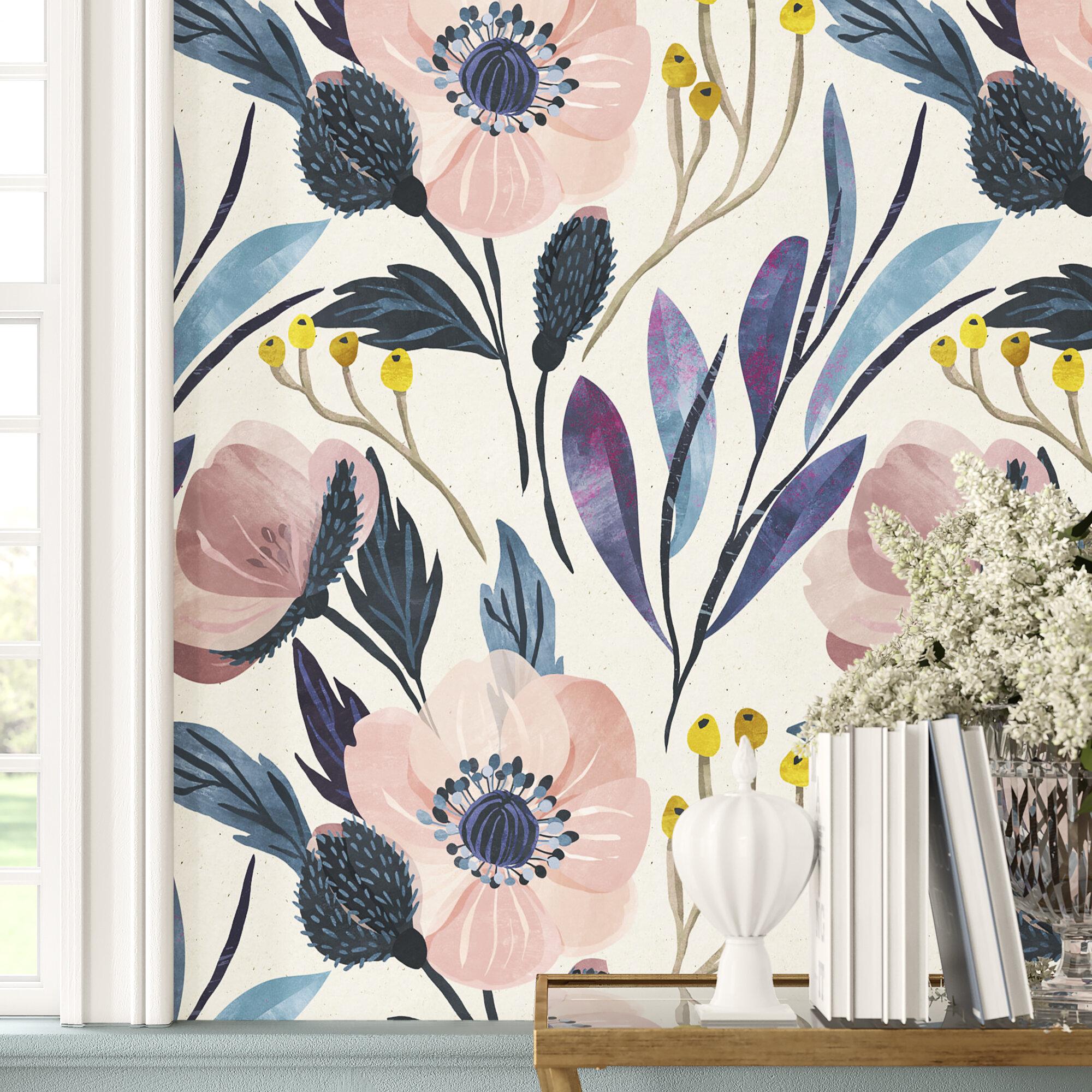 Floral Botanical Self Adhesive Wallpaper You Ll Love In 2020 Wayfair