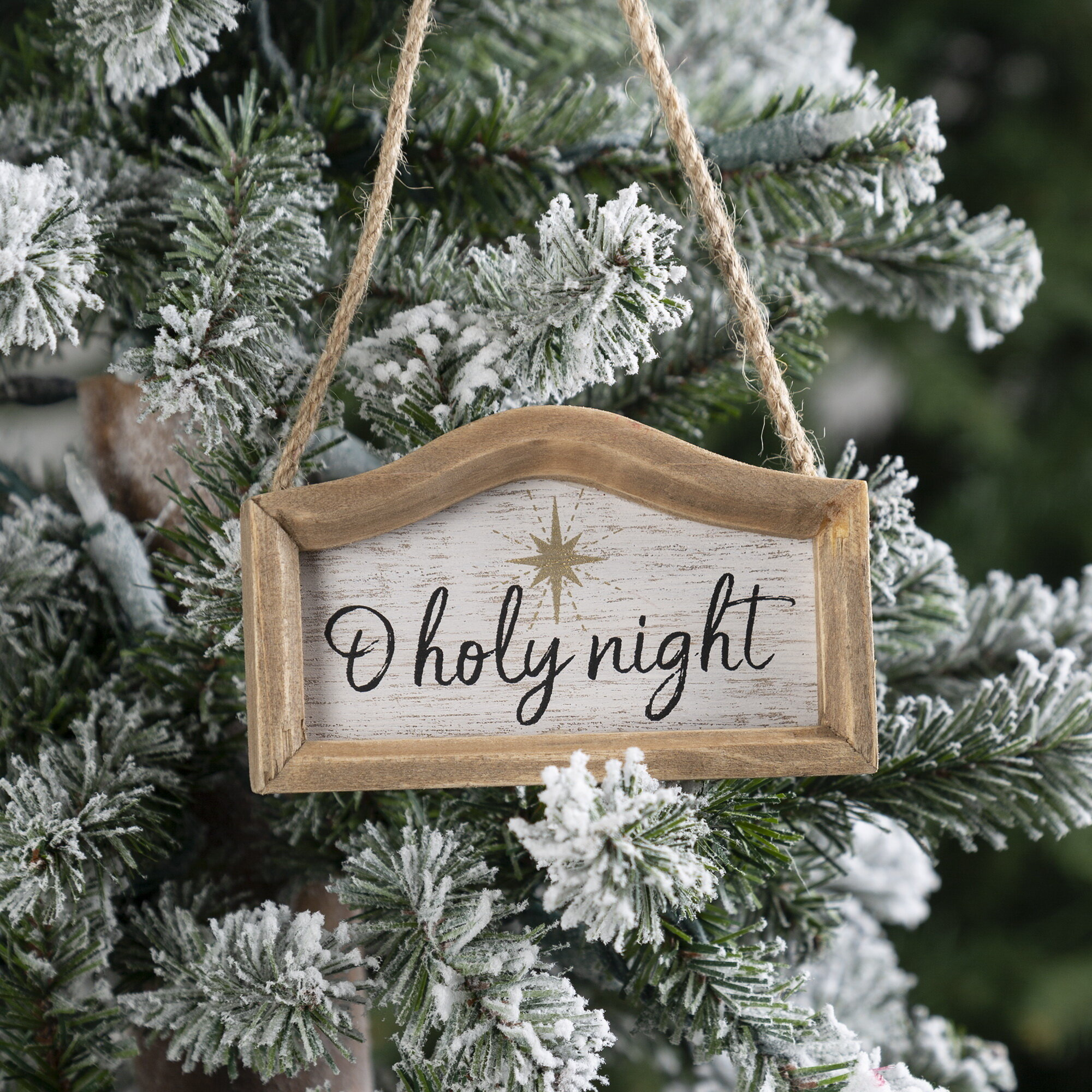 The Holiday Aisle Holy Night Sign Holiday Shaped Ornament Wayfair