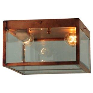 Meyda Tiffany Greenbriar Oak 2-Light Flush Mount