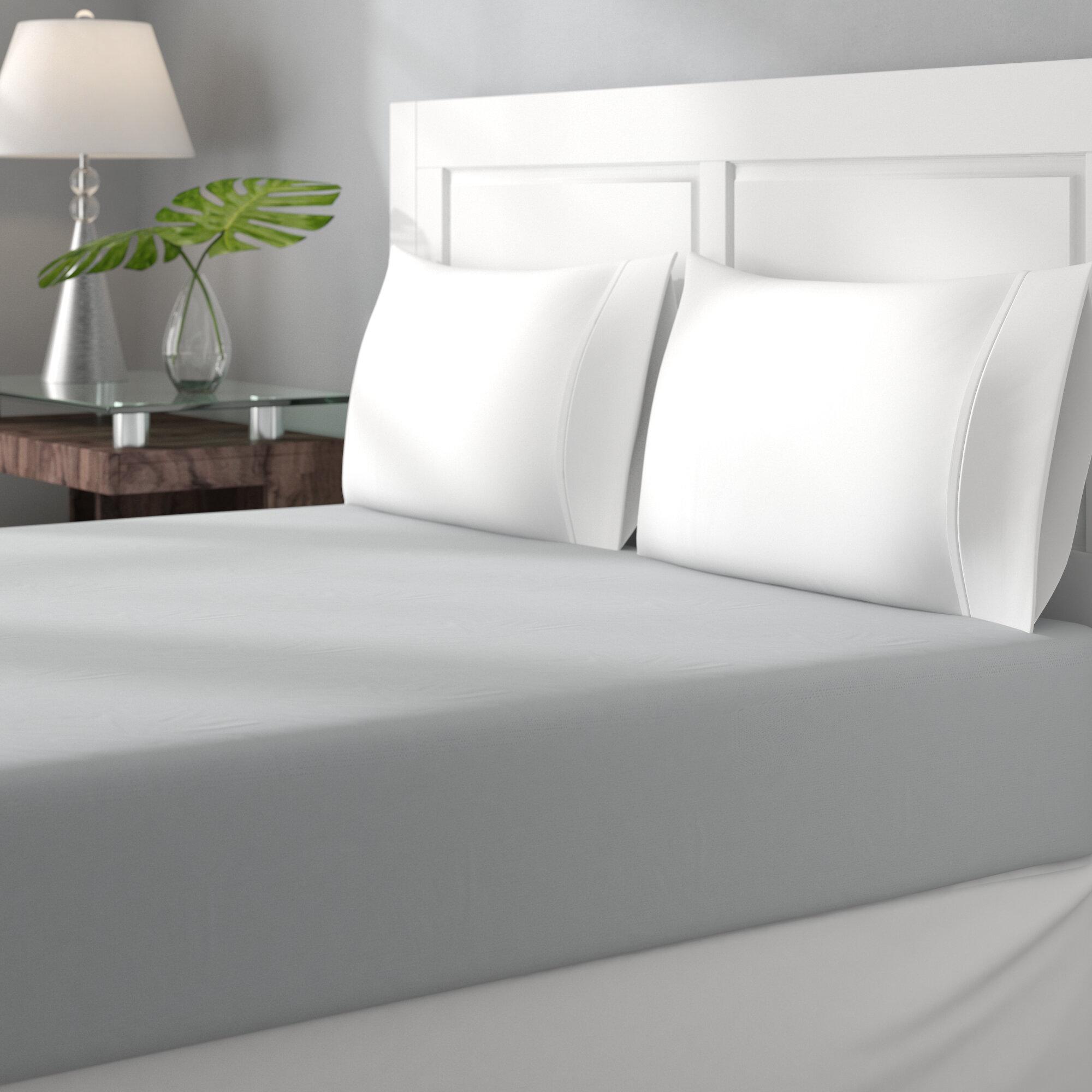 Charlton Home Gavin 100% Cotton Jersey Fitted Bed Sheet U0026 Reviews | Wayfair