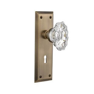 Chateau Privacy Door Knob with New York Plate by Nostalgic Warehouse