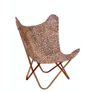 Bloomsbury Market Merseles Cheetah Print Butterfly Lounge Chair
