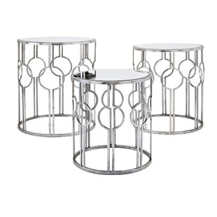 Inexpensive Roush Mirror 3 Piece Nesting Tables ByMercer41