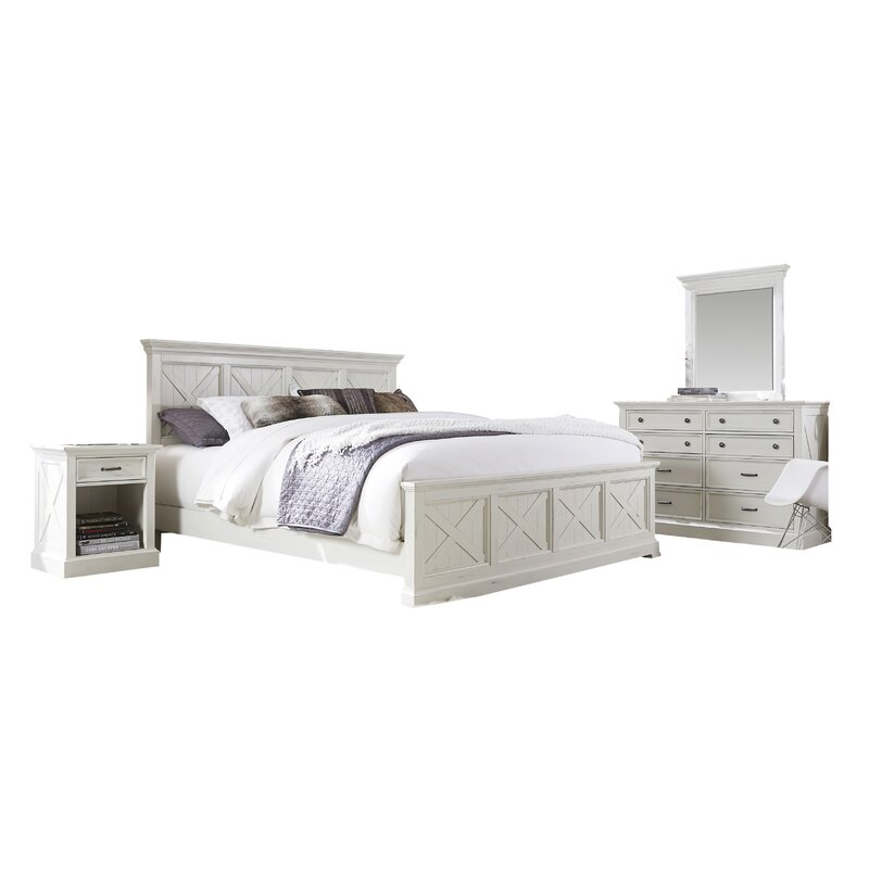 Laurel Foundry Modern Farmhouse Ryles Panel 7 Piece Bedroom Set ...