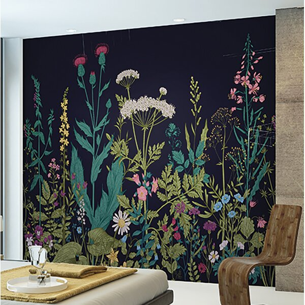 Bungalow Rose Harland Botanical 118 X 94 6 Piece Wall Mural Set Reviews Wayfair
