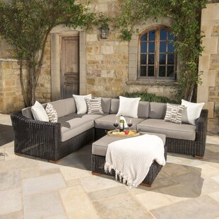 Darby Home Co Monroeville 5 piece Sunbrella Sectional Set with Cushions