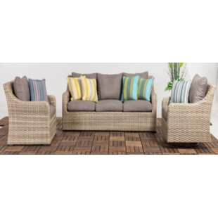 Delgado Patio 3 Piece Sofa Seating Group