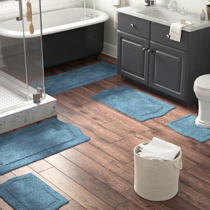 5 Piece Bathroom Rug Sets.Shera 5 Piece Bath Rug Set