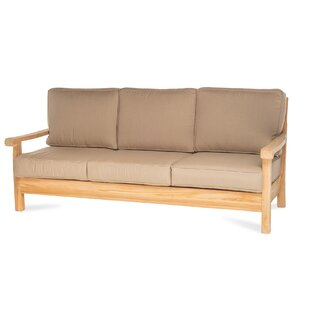 Chasity Teak Patio Sofa with Sunbrella Cushion