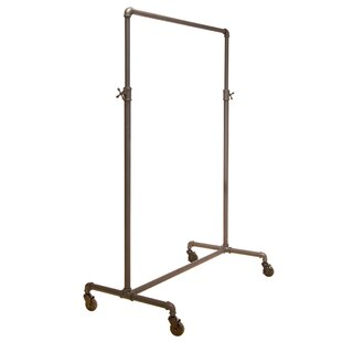 Big Save 42 W Pipeline Adjustable Rolling Ballet Bar Clothes and Garment Rack By Econoco
