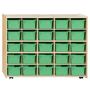 Comparison Contender 25 Compartment Cubby with Trays ByWood Designs