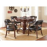 """Mcbride 48"""" 4 - Player Poker Table with Chairs"""
