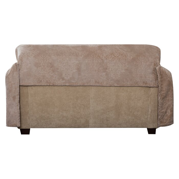 Prime Plush Damask Throw Loveseat Slipcover Caraccident5 Cool Chair Designs And Ideas Caraccident5Info