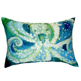 Aneira Octopus Indoor/Outdoor Lumbar Pillow