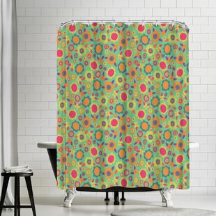 Frankie Van Mourik Ditsy Floral Single Shower Curtain