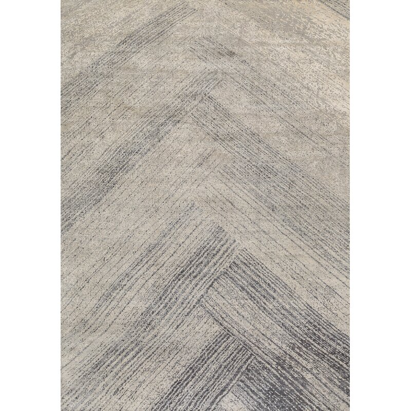 Bokara Rug Co Inc Canterbury Abstract Hand Knotted Gray Area Rug Wayfair
