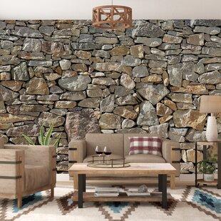 Brick Stone Wall Border Set 12 ft x 6 in Vinyl Decal Sticker Castle Wall