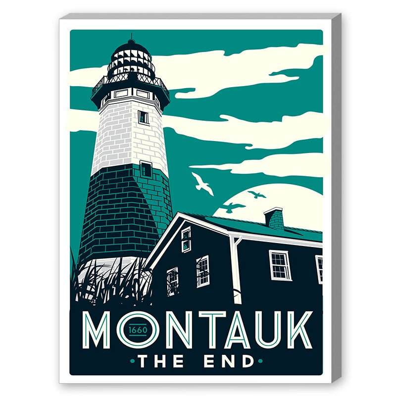 Lighthouse Vintage Advertisement on Canvas