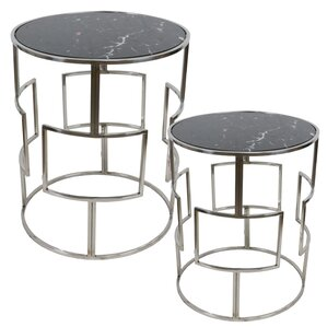 Kilroy Barrel 2 Piece Nesting Tables by Orre..