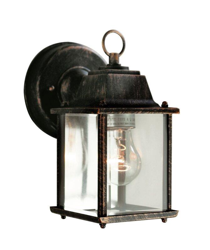 Wrought Studio Catanzaro 1 Light Outdoor Wall Lantern Reviews