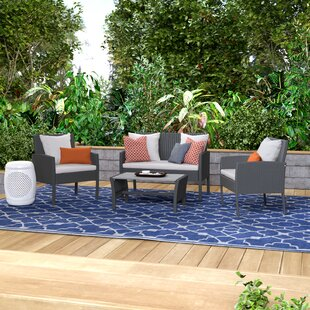 Sarver 4 Piece Sofa Set with Cushions