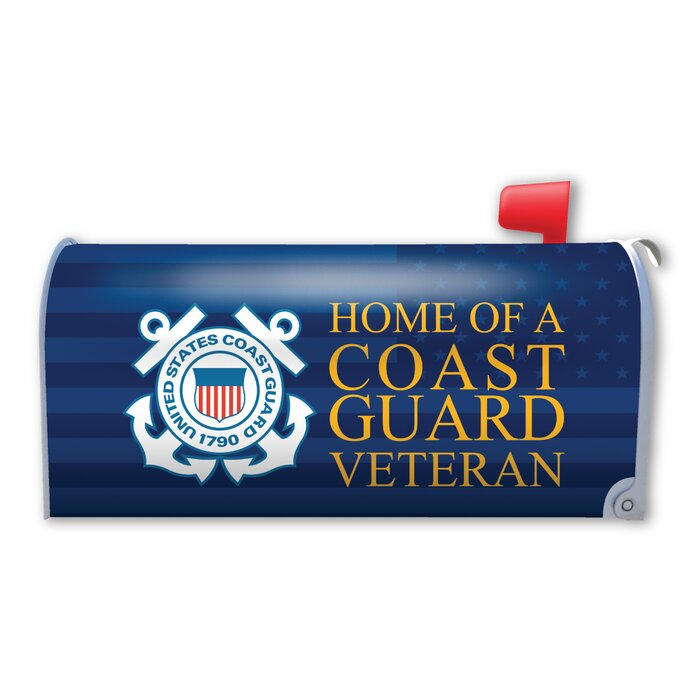 Home of a Coast Guard Veteran Magnetic Mailbox Cover