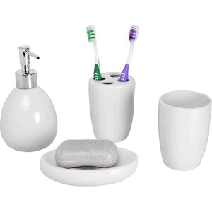 4-Piece Bathroom Accessory Set