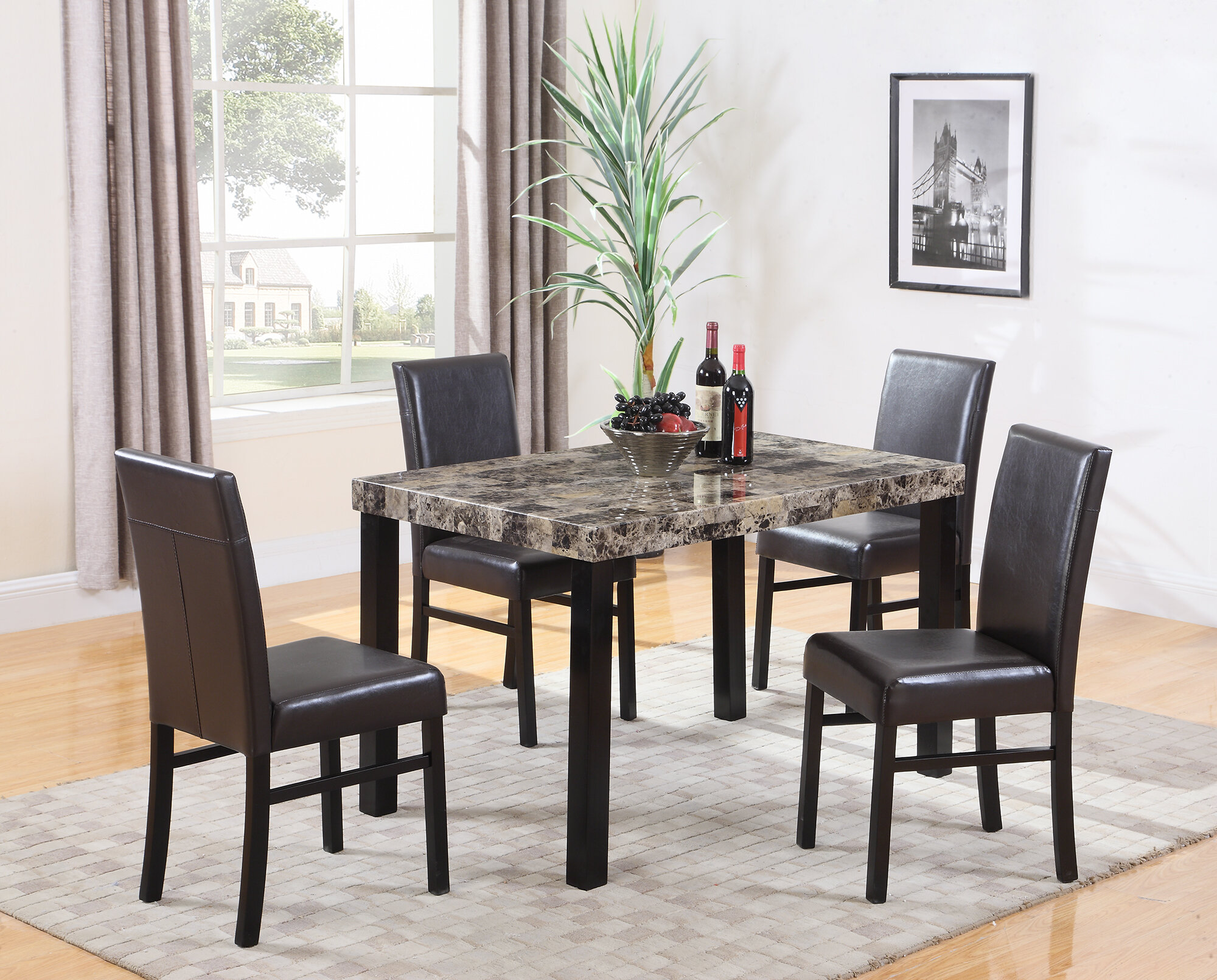 Loiseau 5 Piece Dining Set
