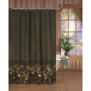 Whitetails Single Shower Curtain in Green