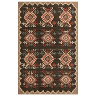 Tayler Kilim Black Indoor/Outdoor Area Rug