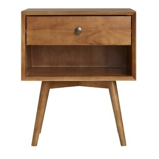 Gertz Mid-Century 1 Drawer Nightstand by George Oliver