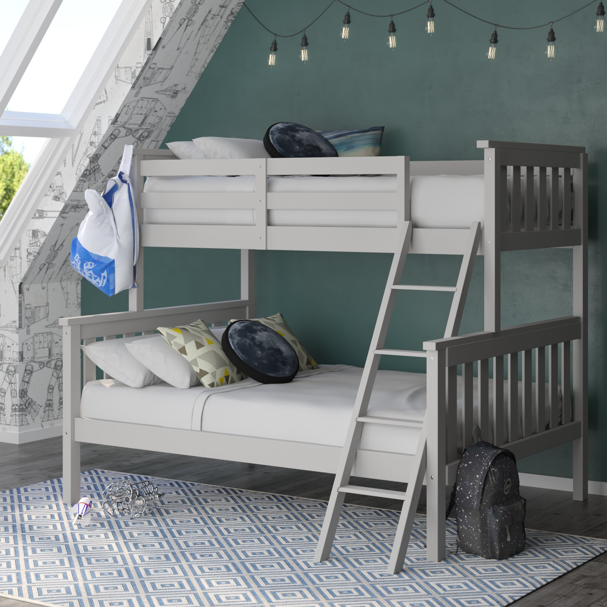 Harriet Bee Hoquiam Twin Over Full Bunk Bed Reviews