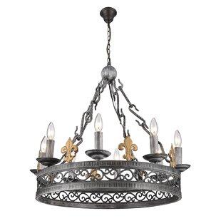 Fleur De Lis Living Marisol 8-Light Candle Style Chandelier