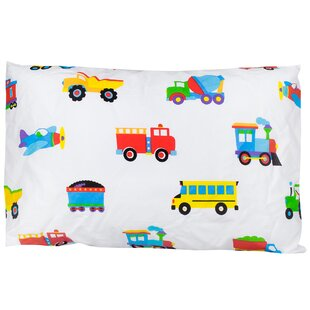 Cars and Trucks Olive Kids Cotton Pillow Cover