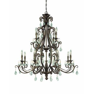 Astoria Grand Lilliane 12-Light Candle Style Chandelier