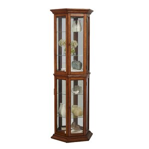 Banner Lighted Curio Cabinet by Three Posts