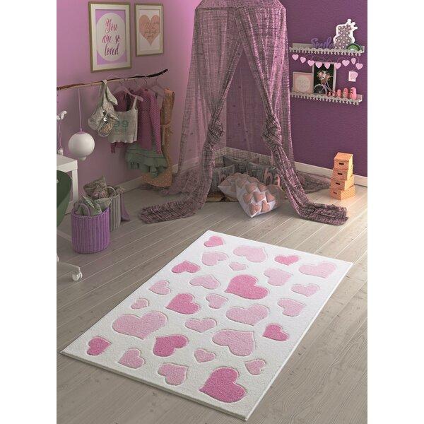 Harriet Bee Karnes Animal Print Dhurrie Pink Area Rug Wayfair