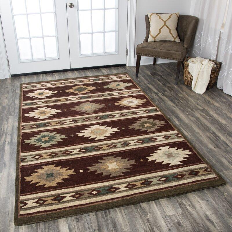 Millwood Pines Eastman Hand Tufted Wool Multicolor Area Rug Reviews Wayfair