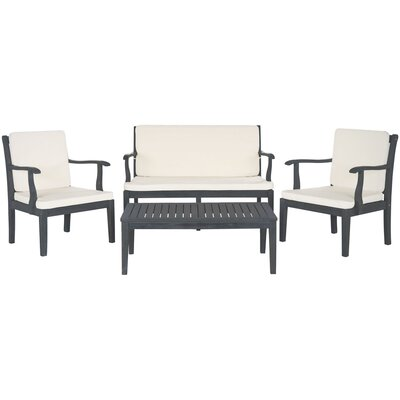 Pleasing Safavieh Bradbury 4 Piece Sofa Seating Group With Cushions Caraccident5 Cool Chair Designs And Ideas Caraccident5Info