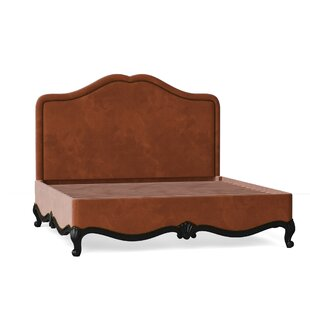 Solid Wood and Upholstered Low Profile Platform Bed by Caracole Classic