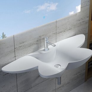Find a Butterfly Stone 53 Wall Mount Bathroom Sink By InFurniture