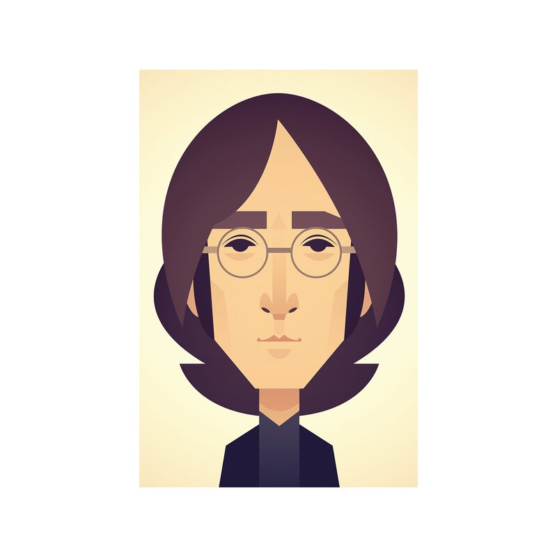 East Urban Home John Lennon Art Print On Wrapped Canvas Wayfair Co Uk