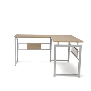 Latitude Run Tiano L Corner Desk with Met..