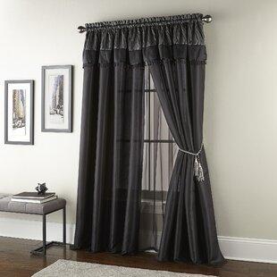Messina Luxury Rod Pocket Window Curtain Panels (Set of 2) by House of Hampton