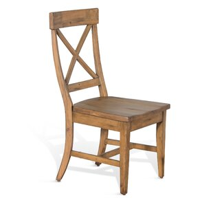 Durocher Dry Leaf Crossback Solid Wood Dining Chair August Grove