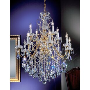 House of Hampton Letitia 12-Light Candle Style Chandelier