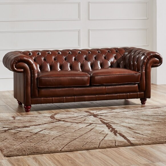 Leather Chesterfield Sofa